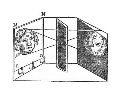 Illustration Of A Camera Obscura Art Print