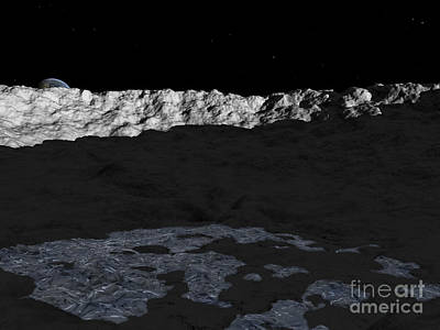 Crater Digital Art - Illustration Of A Deep Crater by Walter Myers