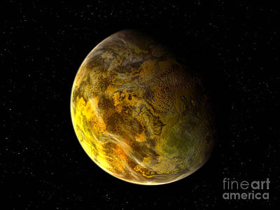 Gliese Digital Art - Illustration Of A Rocky And Variegated by Walter Myers