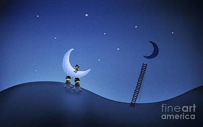 Thief Digital Art - Illustration Of Cartoon Characters by Vlad Gerasimov