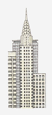 Building Exterior Digital Art - Illustration Of Chrysler Building, New York City by Dorling Kindersley