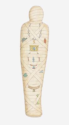 The Past Digital Art - Illustration Of Egyptian Mummy by Dorling Kindersley