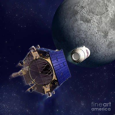 Photograph - Illustration Of Lcross Satellite by NASA and Science Source