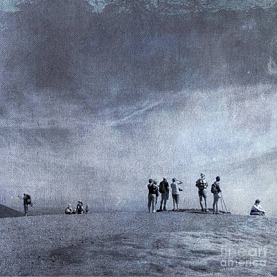 People On Beach Wall Art - Photograph - Illustration Of Tourist On Holiday by Bernard Jaubert