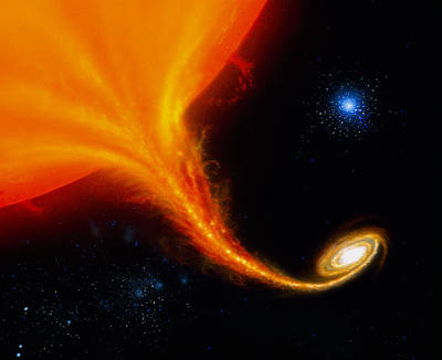 X-ray Binary Photograph - Illustration 'red Giant/black Hole' by Julian Baumnew Scientist
