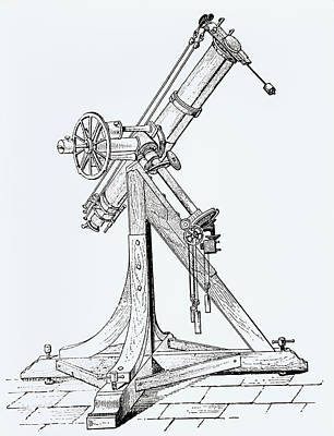 Illustration Showing Koenigsberg Heliometer Art Print