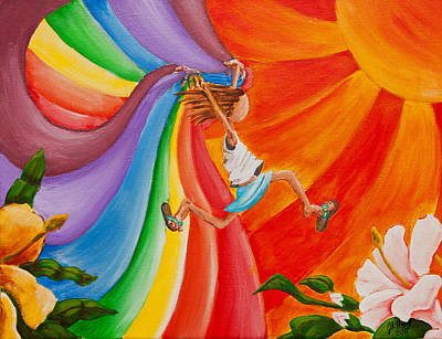 Trippy Painting - I'm A Rainbow Too by Jason Honeycutt