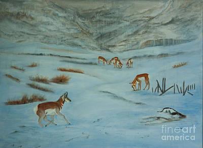 Yellowstone Mixed Media - I'm Coming by Judy Cardinale