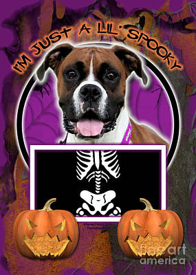 I'm Just A Lil' Spooky Boxer Art Print by Renae Laughner