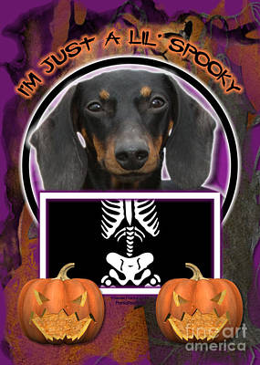 Dachshund Digital Art - I'm Just A Lil' Spooky Dachshund by Renae Laughner