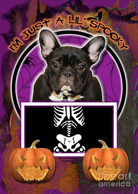 Breed Digital Art - I'm Just A Lil' Spooky French Bulldog by Renae Laughner