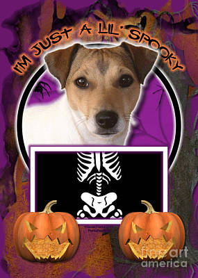 Jack Russell Terrier Digital Art - I'm Just A Lil' Spooky Jack Russell by Renae Laughner