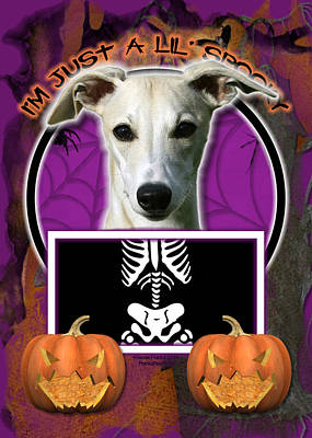 Whippet Digital Art - I'm Just A Lil' Spooky Whippet by Renae Laughner