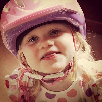 Young Girl Photograph - I'm Ready For My Bike Dash... #jj by Taylor Made
