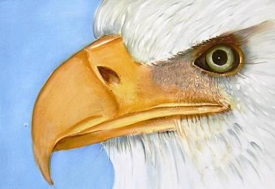 Image 1147b Bold Eagle 1 Art Print by Wilma Manhardt