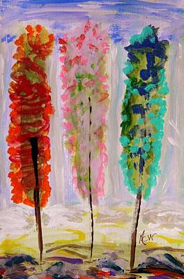 Mcw Drawing - Imaginary Poplars by Mary Carol Williams