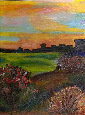 Imaginary View Of Golf Course Art Print by Anne-Elizabeth Whiteway