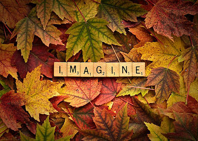 Photograph - Imagine-autumn by  Onyonet  Photo Studios