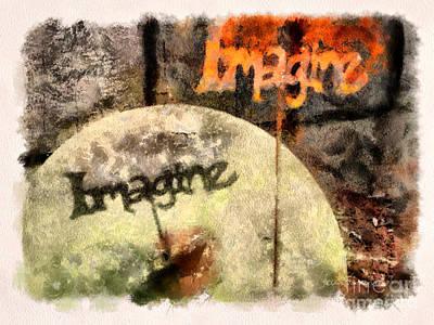 Imagine Art Print by Clare VanderVeen