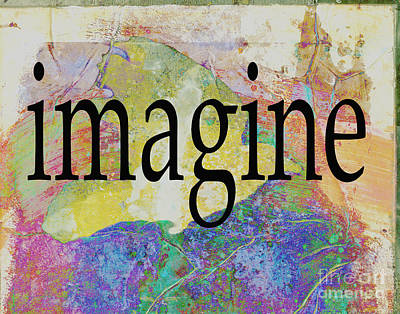 Painting - Imagine Typography Art by Ann Powell