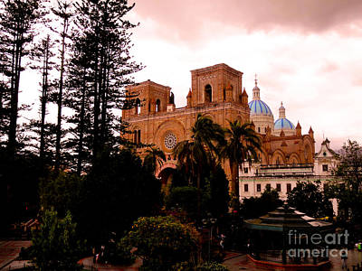 Immaculate Photograph - Immaculate Conception Cathedral And Parque Calderon by Al Bourassa