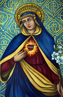 Immaculate Heart Art Print by Valerie Vescovi