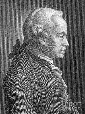 Immanuel Kant, German Philosopher Art Print by Photo Researchers