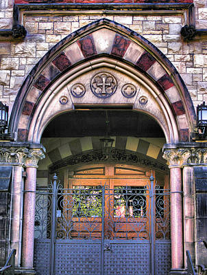 Entrance Door Photograph - Immanuel Presbyterian Church II by Steven Ainsworth