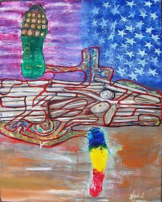 Immigration Step Art Print by Adriana Vasilut