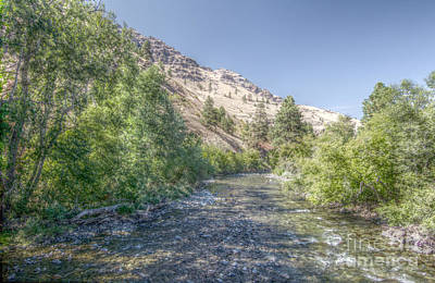 Dry Felt Photograph - Imnaha River Afternoon by Kevin Felts