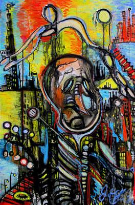 Impaired Judgement  Art Print by Jon Baldwin  Art
