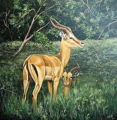 Impala Art Print by AnnaJo Vahle