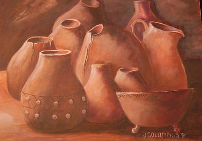 Painting - Imperfect Indian Pottery by Janna Columbus