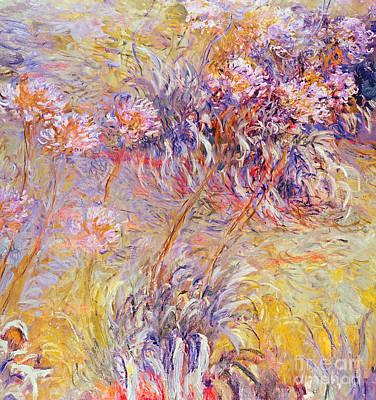 Abstract Movement Painting - Impression - Flowers by Claude Monet