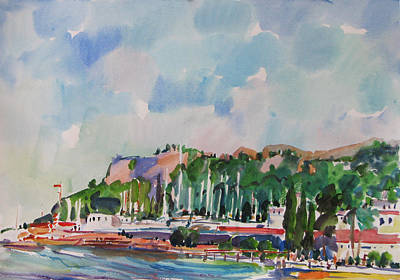 Painting - Impression About Kemer by Juliya Zhukova