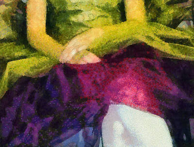 Impressionist Mixed Media - Impression Of A Ballerina Lap by Angelina Vick