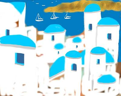 Greece Painting - Impressions Of Greece by Larry Cirigliano