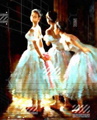 Fine Art Of Women Mixed Media - Impressions Of Modern Ballet by Georgiana Romanovna