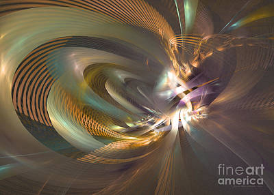 Digital Art - In A Fog - Fractal Art by Sipo Liimatainen