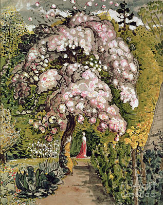 Cherry Blossoms Painting - In A Shoreham Garden by Samuel Palmer
