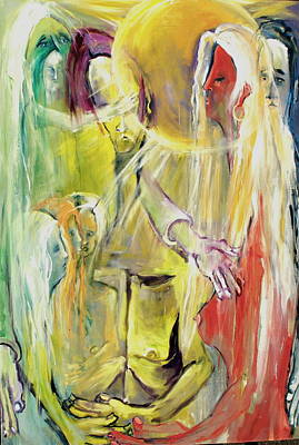 Art Print featuring the painting In And Out Of Spiritual Confusion by Kenneth Agnello
