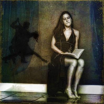 Woman Daydreaming Digital Art - In Another Life by Hazel Billingsley