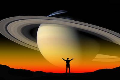 In Awe Of Saturn Art Print