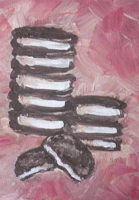 Oreo Painting - In Between by Sandy Tracey