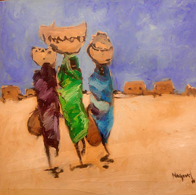 Painting - in Darfur 2 by Negoud Dahab