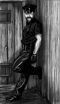 Brentmarrart Drawing - In Dark Alleys by Brent  Marr
