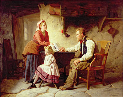Disappointed Painting - In Disgrace by William Henry Midwood