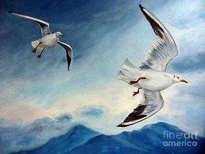 Art Print featuring the painting In Flight by Julie Brugh Riffey