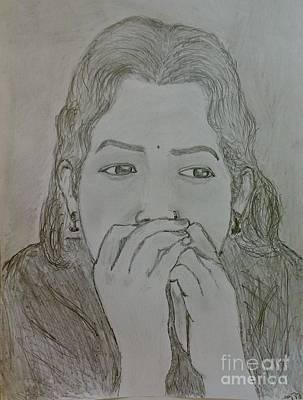 Drawing - In Imagination by Hari Om Prakash