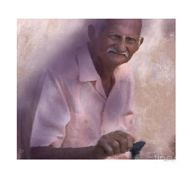 Elderly People Painting - In Joy Or Sorrow Live For Tomorrow by Bob Salo